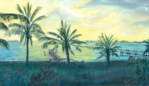 palm trees near coast